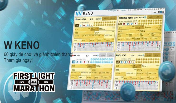 Cách chơi Keno W88